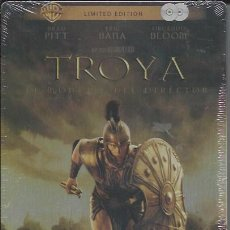 Cine: TROYA, EL MONTAJE DEL DIRECTOR. 2 DVD EN CAJA METALICA. EDICIÓN LIMITADA. Lote 50104952