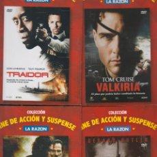 Cine: CINE DE ACCION Y SUSPENSE, LOTE 4 DVD - TRAIDOR, VALKIRIA, HUNTED, GAMER. Lote 50351949