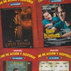 Cine: CINE DE ACCION Y SUSPENSE, LOTE 4 DVD OPEN RANGE, TWO HANDS, DISCURSO DE EL REY, BETTY ANNE WATERS,. Lote 50352144