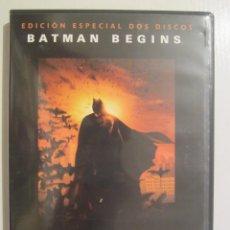 Cine: DVD BATMAN BEGINS EDICION DOS DISCOS. Lote 42708701