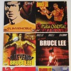 Cine: LOTE DE PELÍCULAS BRUCE LEE BRANDON OTRO- DVD DOCUMENTAL LA LEYENDA ARTES MARCIALES KUNG FU PELÍCULA. Lote 50506542
