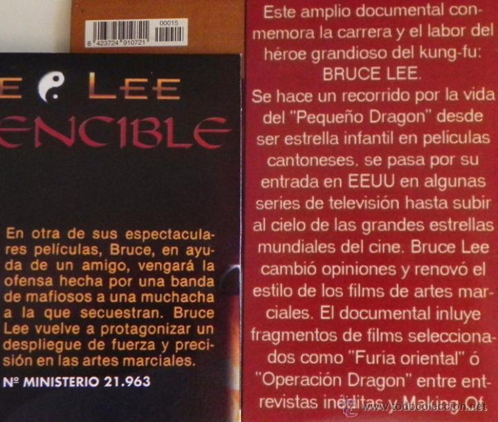 Cine: LOTE DE PELÍCULAS BRUCE LEE BRANDON OTRO- DVD DOCUMENTAL LA LEYENDA ARTES MARCIALES KUNG FU PELÍCULA - Foto 3 - 50506542