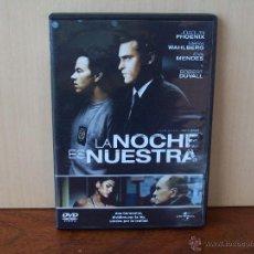 Cine: LA NOCHE ES NUESTRA - JOAQUIN PHOENIX - EVA MENDEZ - DVD. Lote 204245928