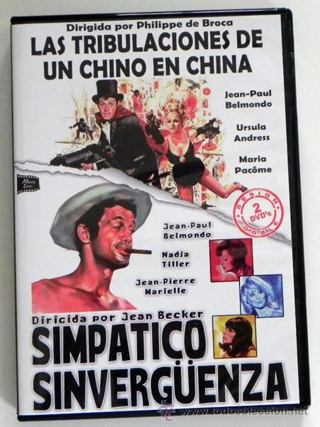 DVD LAS TRIBULACIONES DE UN CHINO EN CHINA / SIMPÁTICO SINVERGÜENZA PELÍCULA BELMONDO URSULA ANDRESS (Cine - Películas - DVD)