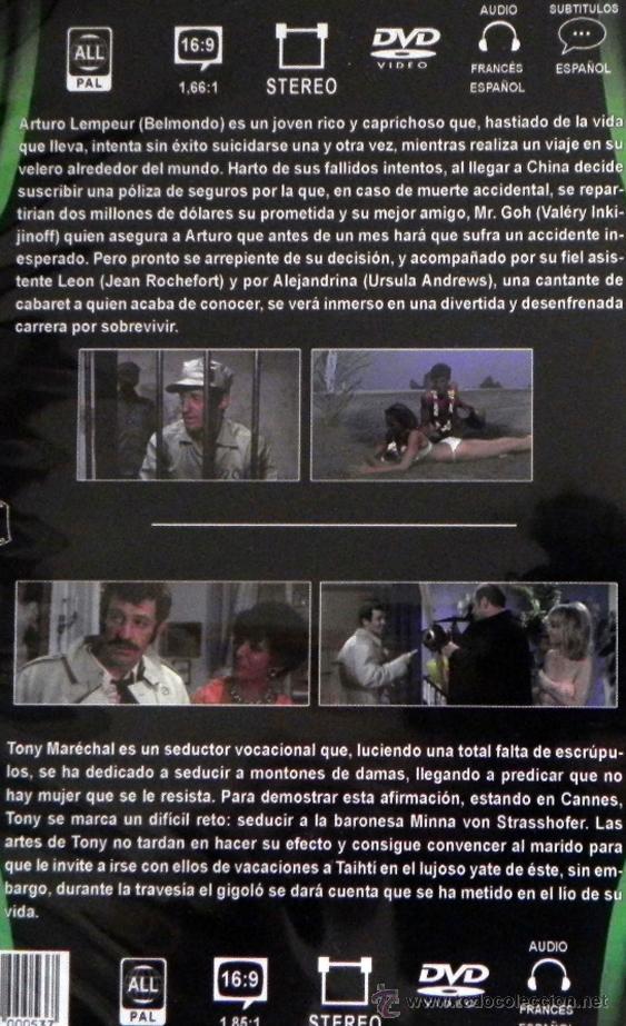 Cine: DVD LAS TRIBULACIONES DE UN CHINO EN CHINA / SIMPÁTICO SINVERGÜENZA PELÍCULA BELMONDO URSULA ANDRESS - Foto 2 - 50592844