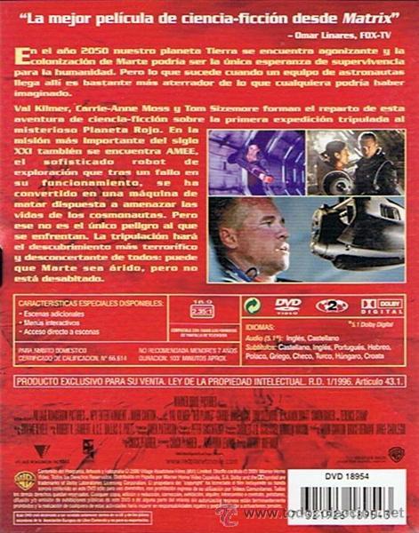Cine: DVD PLANETA ROJO VAL KILMER - Foto 2 - 50686013