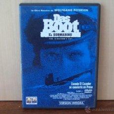 Cine: DAS BOOT (EL SUBMARINO) - DIRIGIDA POR WOLFGANG PETERSEN - DVD VERSION INTEGRA. Lote 50956302