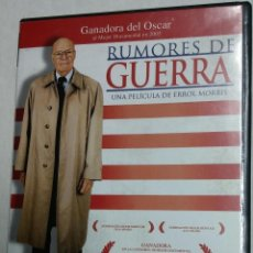 Cine: RUMORES DE GUERRA (THE FOG OF WAR, 2003) - ERROL MORRIS - DVD - DESCATALOGADO - ROBERT MCNAMARA - (. Lote 51029477