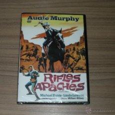 Cine: RIFLES APACHES DVD AUDIE MURPHY NUEVA PRECINTADA. Lote 205747518