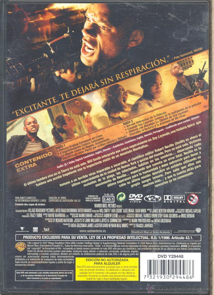 soy leyenda (2.dvd): uno de los mas aplaudidos - Comprar Películas ...