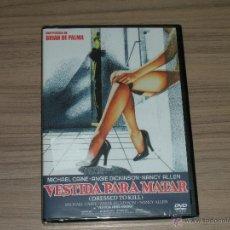 Cine: VESTIDA PARA MATAR DVD DE BRIAN DE PALMA MICHAEL CAINE ANGIE DICKINSON NANCY ALLEN NUEVA PRECINTADA. Lote 191312073