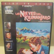 Cine: DVD LAS NIEVES DEL KILIMANJARO. Lote 51639877