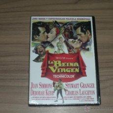 Cine: LA REINA VIRGEN DVD STEWART GRANGER JEAN SIMMONS DEBORAH KERR NUEVA PRECINTADA. Lote 98851480