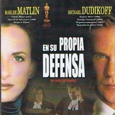 Cine: DVD EN SU PROPIA DEFENSA MARLEE MATLIN - MICHAEL DUDIKOFF. Lote 52364214