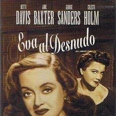 Cine: DVD EVA AL DESNUDO BETTE DAVIS. Lote 52364280