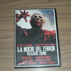 Cine: LA NOCHE DEL TERROR DVD MASACRE ZOMBI NUEVA PRECINTADA DESCATALOGADA. Lote 183907233