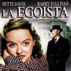 Cine: DVD LA EGOISTA - BETTE DAVIS. Lote 52849657