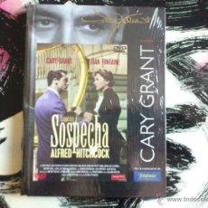 Cine: SOSPECHA - HITCHCOCK - CARY GRANT - DVD - LIBRO. Lote 52941193