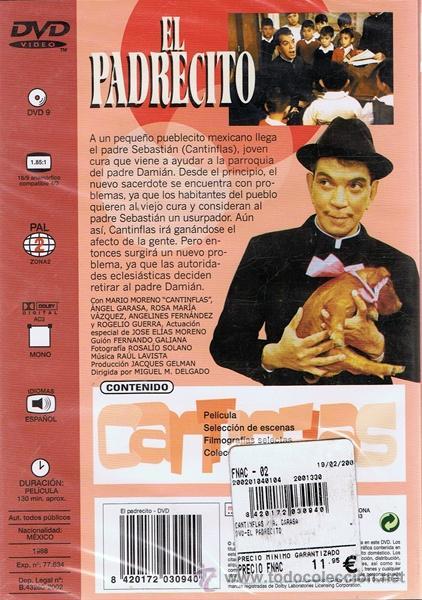 Cine: DVD EL PADRECITO MARIO MORENO CANTINFLAS (PRECINTADO) - Foto 2 - 52971122