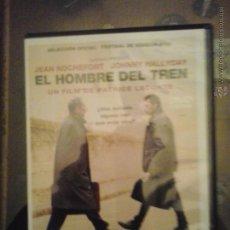 Cine: EL HOMBRE DEL TREN DE PATRICE LACONTE- ENVASE DE PLASTICO FINO - DVD. Lote 52973540
