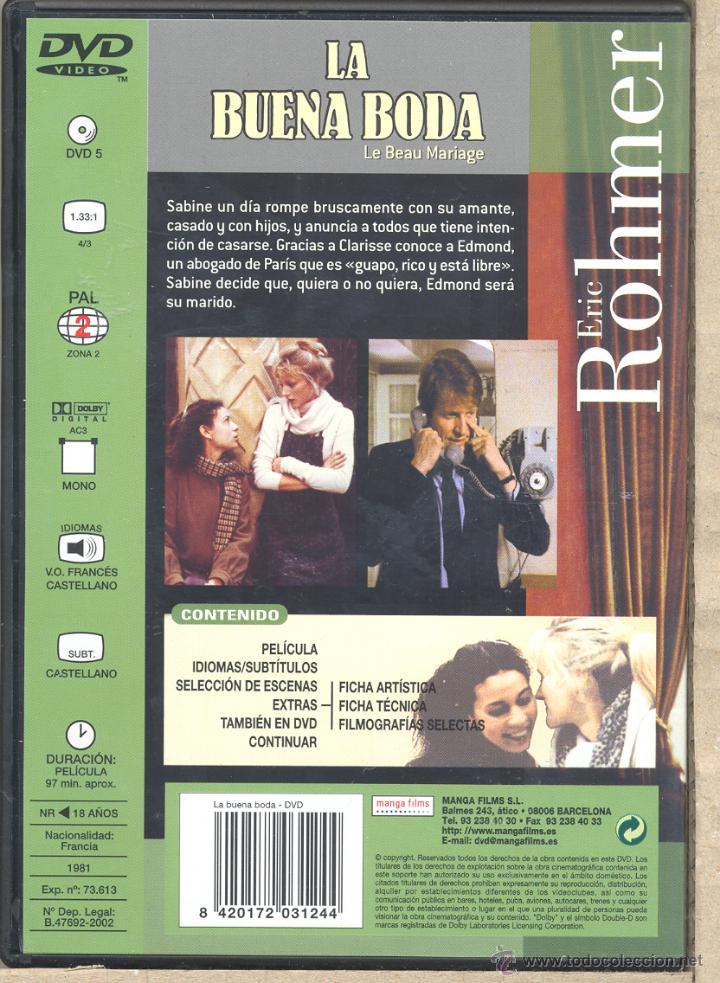 Cine: LA BUENA BODA dvd (E- ROHMER) SE CANSÓ DE SU AMANTE. ROMPIÓ CON EL Y SE LANZÓ A POR EL MARIDO IDEAL - Foto 2 - 40313685