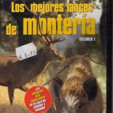 Cine: DVD LOS MEJORES LANCES DE MONTERIA, JABALIES Y VENADOS. GRUPO V. Lote 53013219