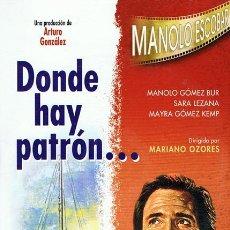 Cine: DVD DONDE HAY PATRÓN... MANOLO ESCOBAR. Lote 104415096
