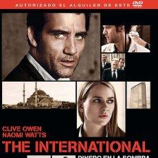 Cine: THE INTERNATIONAL : DINERO EN LA SOMBRA **DE TOM TWYKER CON CLIVE OWEN, NAOMI WATTS. Lote 53239428
