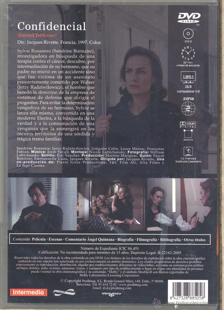 Cine: CONFIDENCIAL (Jacques Rivette) Descatalogadisima... y buscada por muchos. PRECINTADA - Foto 2 - 53262939