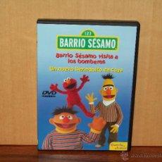 Cine: BARRIO SESAMO - BARRIO SESAMO VISITA A LOS BOMBEROS - UN NUEVO HERMANITO EN CASA - DVD. Lote 182966016