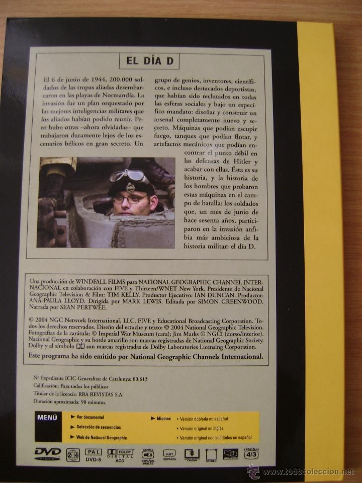 Cine: DVD DOCUMENTAL ,EL DIA D NORMANDIA DE NATIONAL GEOGRAPHIC. - Foto 2 - 53581386