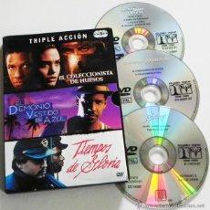 Cine: PELÍCULAS DENZEL WASHINGTON DVD EL DEMONIO VESTÍA DE AZUL - TIEMPOS DE GLORIA PELÍCULA FREEMAN JOLIE. Lote 53599136