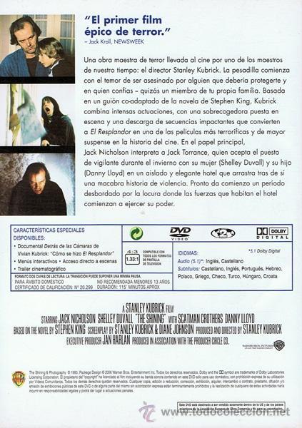 Cine: DVD EL RESPLANDOR STANLEY KUBRICK - Foto 2 - 53629655