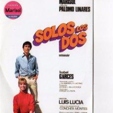 Cine: DVD SOLOS LOS DOS - MARISOL - PALOMO LINARES. Lote 53668308