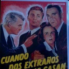 Cine: CUANDO DOS EXTRAÑOS SE CASAN-UN FILM DE CULTO RECUPERADO-NO ESTRENADO EN ESPAÑA-CINE NEGRO. Lote 53827099