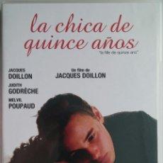 Cine: LA CHICA DE QUINCE AÑOS (1989) - JACQUES DOILLON - DESCATALOGADO - DVD. Lote 54208262