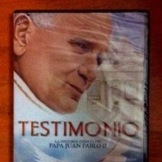 Cinema: TESTIMONIO. LA HISTORIA INÉDITA DEL PAPA JUAN PABLO II (NUEVO, PRECINTADO). Lote 54326008