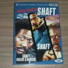Cine: TRILOGIA COMPLETA EDICION ESP 3 DVD SHAFT - SHAFT VUELVE A HARLEM - SHAFT EN AFRICA NUEVA PRECINTADA. Lote 183995560