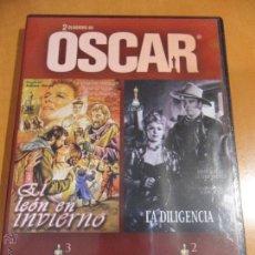 Cine: EL LEON EN INVIERNO. LA DILIGENCIA. DVD CON 2 PELICULAS.. Lote 54459987