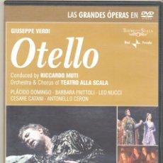 Cine: OTELLO (GRAN OPERA ) NADA MENOS QUE PLACIDO DOMINGO EN LA SCALA ...DIRIGIDO POR R. MUTTI. Lote 54631283