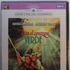Cine: DVD - TRAS EL CORAZÓN VERDE - MICHAEL DOUGLAS - KATHLEEN TURNER - PRECINTADA. Lote 54751700