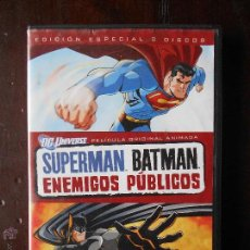 Cine: DVD SUPERMAN BATMAN - ENEMIGOS PUBLICOS (1 DISCO, NO 2 DISCOS) (5J). Lote 54892877