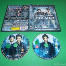Cine: SHERLOCK HOLMES - 2 DVD - EDICION ESPECIAL DOS DISCOS - ROBERT DOWNEY JR. - JUDE LAW .... Lote 55124006