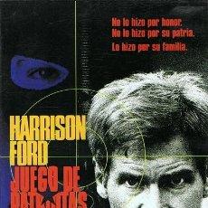 Cine: DVD JUEGO DE PATRIOTAS HARRISON FORD . Lote 55195117