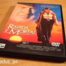 Cine: RÁPIDA Y MORTAL SHARON STONE PELÍCULA EN DVD MUY BUEN ESTADO. Lote 194254862