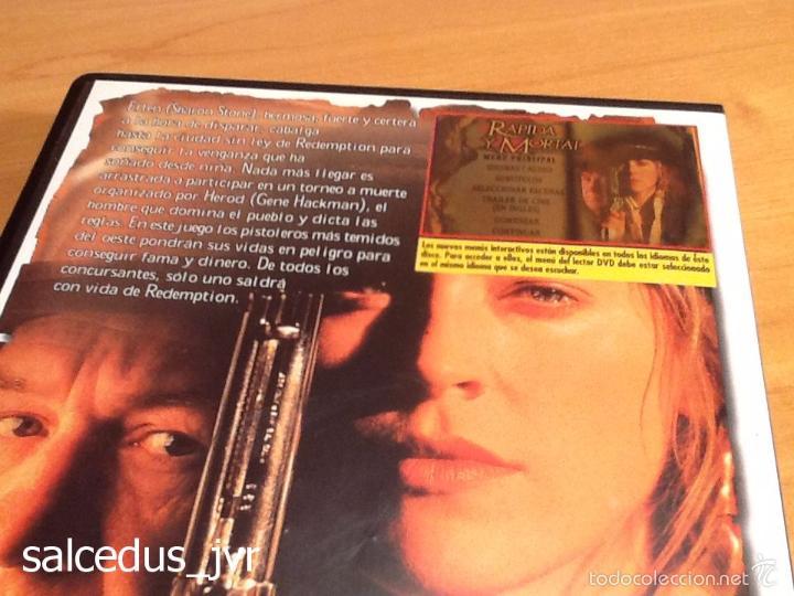 Cine: Rápida y Mortal Sharon Stone Película en DVD Muy Buen Estado - Foto 2 - 194254862
