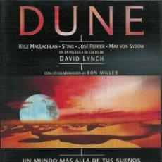 Cine: DUNE, DE DAVID LYNCH - KYLE MCLACHLAN, STING. JOSE FERRER DVD. Lote 55326450