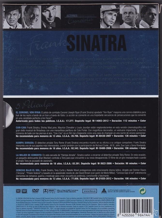 Cine: Frank Sinatra - Pack Actores & Directores Esenciales (5 DVDs) - Foto 2 - 55860372