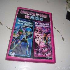 Cine: DVD MONSTER HIGH DOS PELICULAS MONSTRUITAS SOBRE RUEDAS UN ROMANCE MONSTRUOSO . Lote 56048975