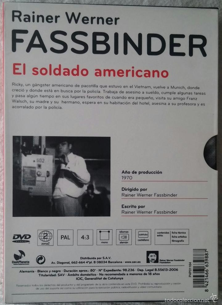Cine: EL SOLDADO AMERICANO (1970) - RAINER WERNER FASSBINDER - DESCATALOGADO - DVD - Foto 2 - 56241346